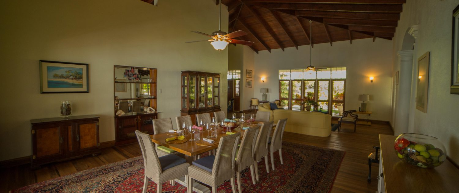 The dining room are