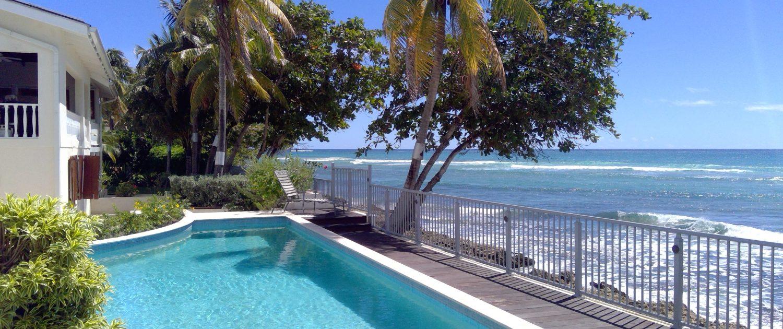 Swimming pool looking east.
