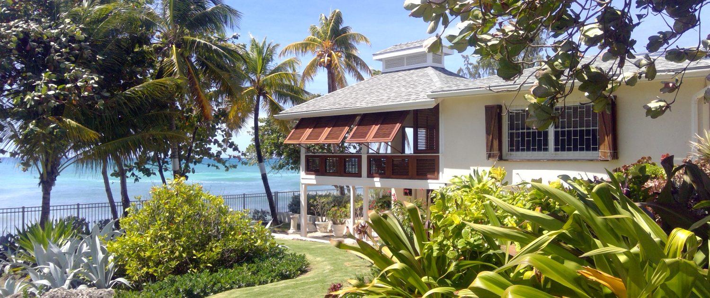 East garden and veranda.